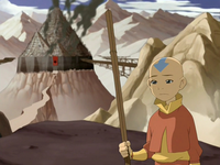 Aang at captured Omashu