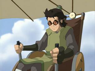Teo while gliding