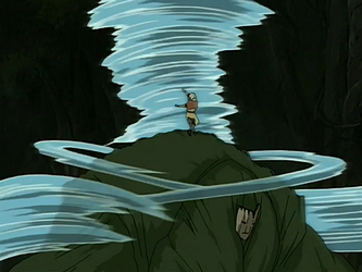 קובץ:Aang fights Swamp Monster.png