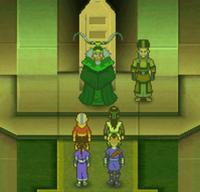 Team Avatar talking to Bumi