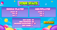 Super Mini Puzzle Heroes Multiplayer stats screen