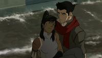 Mako holding Korra