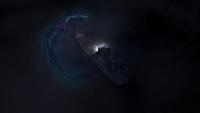Squid-spirit attacking ship