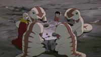 Tenzin and Ikki having breakfast