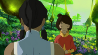 Korra and Jinora meditating