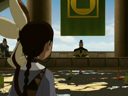 Katara at the Council of Five