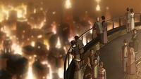 People on Harmony Tower