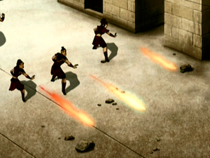 Soldiers firebend
