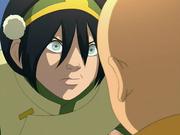 Toph chastising Aang