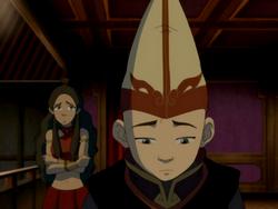 Aang and Katara during intermission.png