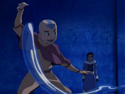 Aang teaches Katara.png