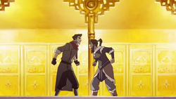 Mako and Korra argue
