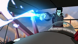 Iroh shoots lightning