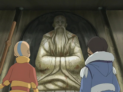 Northern Air Temple statue