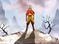Aang at deserted Southern Air Temple