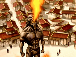 Fire Fountain statue.png