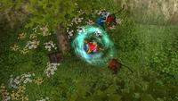 Fighting hog monkeys