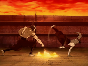 Zuko and Zhao Agni Kai