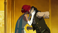 Ginger kissing Bolin