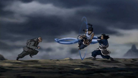File:Korra and Tonraq versus Zaheer.png