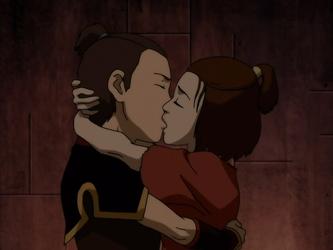 File:Sokka and Suki kiss in prison.png