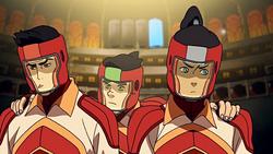 Bolin encouraging Mako and Korra