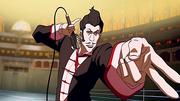 Pro-bending ring announcer