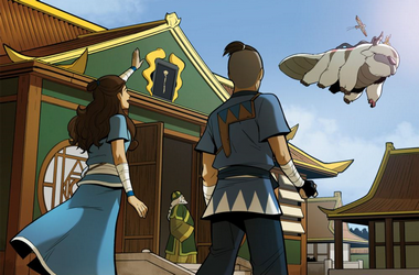 File:Katara and Sokka wave off Aang.png