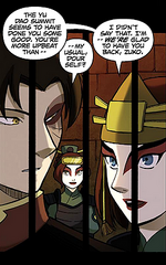 Suki glad about upbeat Zuko