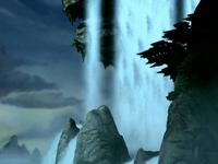 Eastern Air Temple waterfall