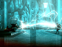 Ozai and Zuko battle