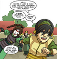 Toph drags Ty Lee off.png