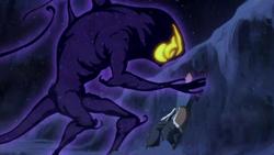 Dark spirit attacking Korra