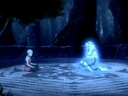 Aang speaks to Kuruk's spirit.png