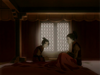 Azula telling Zuko of Ozai's punishment