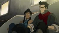 Korra and Mako talking