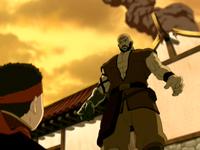 Combustion Man and Aang