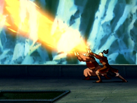 Zuko and Iroh attack