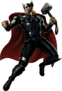 Modern Armor Thor Right Portrait Art