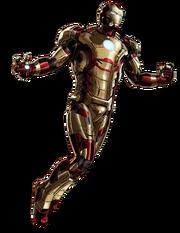 Iron Man Mk 42 Armor Portrait Art