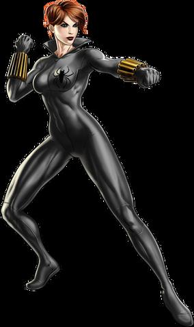 File:Grey Suit Black Widow Portrait Art.png