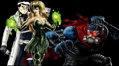 PRE PVP 24 Enchantress & Beast. Marvel Avengers Alliance ANNHE