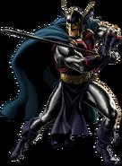 Black Knight Right Portrait Art