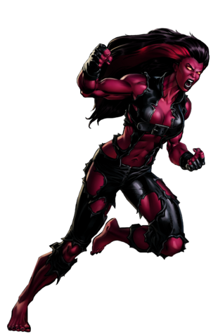 File:Red She Hulk Portrait Art.png
