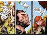 Wolverine and Hope visit Jean Grey grave