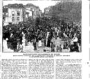 Manifestación monárquica en Avilés 15 de Abril de 1910