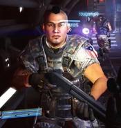 Quintaro with shotgun