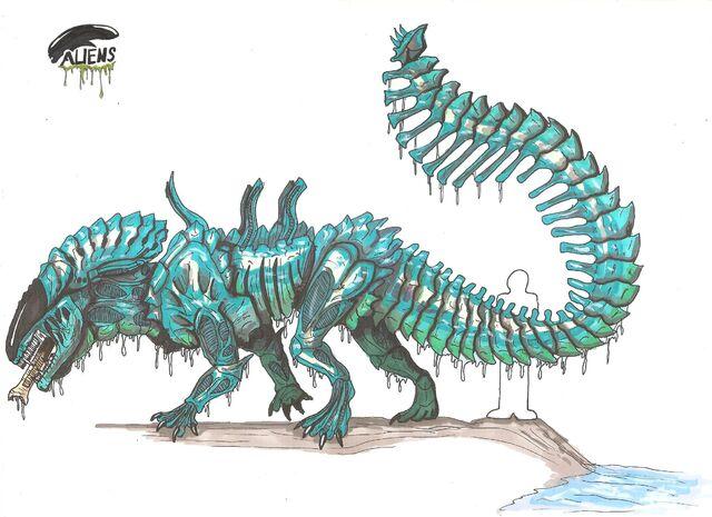 File:Crocodile alien by hellraptor-d56ppnw.jpg