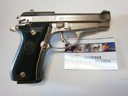 Beretta 84FS nickel