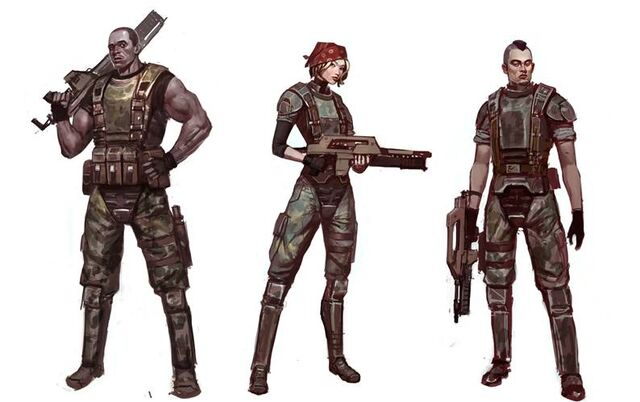 File:Concept art for Aliens Colonial Marines (Damarcus, Jennifer and Quintaro).jpg